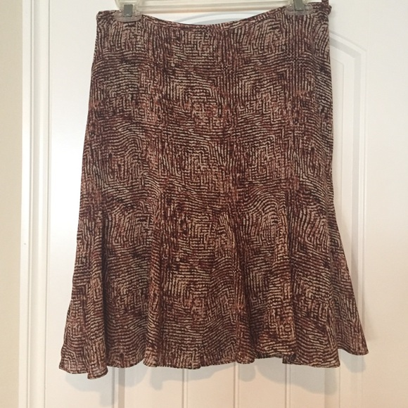 Liz Claiborne Dresses & Skirts - 🎉DONATE SOON🎉 Fit and flare brown skirt.